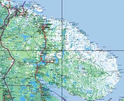Кольский Полуостров Карта